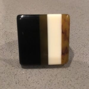 """kate spade """"Cafe Stripe"""" Chunky Lucite Ring"""